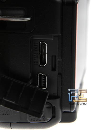 Интерфейсные разъемы Sony SLT-A33