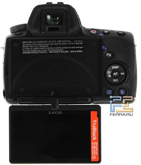 Конструкция дисплея Sony SLT-A33