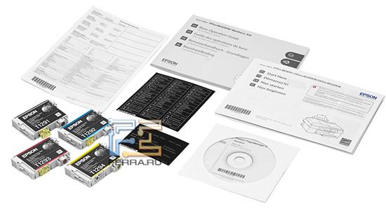Комплект поставки может отличаться, так как принтер способен работать и с обычным, и со сдвоенным черным картриджем