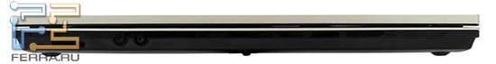 Передний торец HP ProBook 4520s: карт-ридер и аудио разъемы