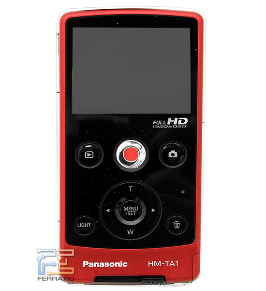 Экран и органы управления Panasonic HM-TA1