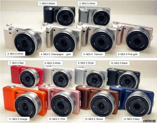Sony NEX-3 и NEX-5 будут выпускаться в огромном числе вариантов оформления