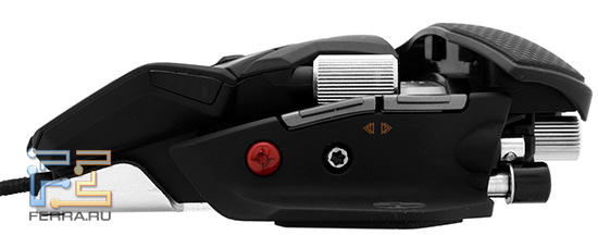 Клавиши «Вперед»—«Назад» на левой боковине мыши Cyborg R.A.T. 7