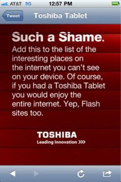 ������� Toshiba � iPad