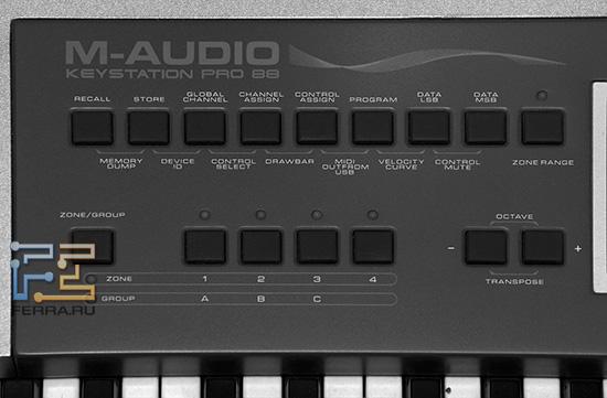 Клавиши для настройки контроллера