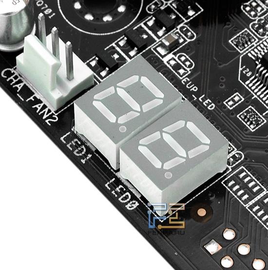 За вывод изображения на индиктор POST-кодов отвечает Super I/O-контроллер