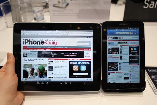 Samsung Galaxy Tab � iPad