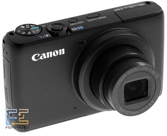 Canon PowerShot S95 во включенном состоянии