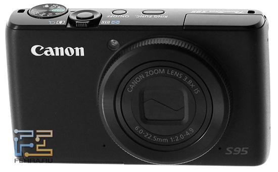 Органы управления на верхней панели Canon PowerShot S95