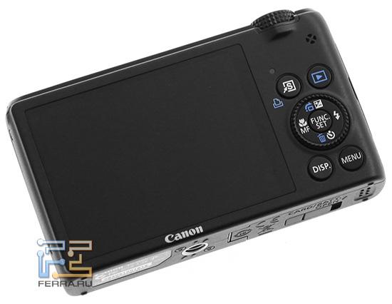 Задняя часть фотоаппарата Canon PowerShot S95