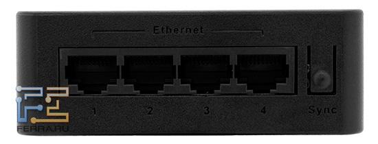Ethernet-портов четыре, хотя сетевой контроллер в WD LiveWire поддерживает больше