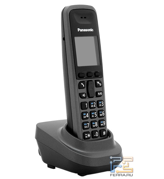 Телефонная трубка ничем не отличается от той, что идет в комплекте с каким-нибудь радиотелефоном