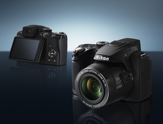 Nikon Coolpix P500 с поворотным дисплеем