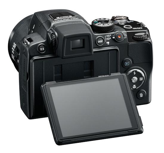 Nikon Coolpix P500: обличье сзади