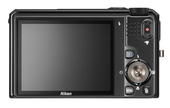 Nikon Coolpix S9100: вид сзади