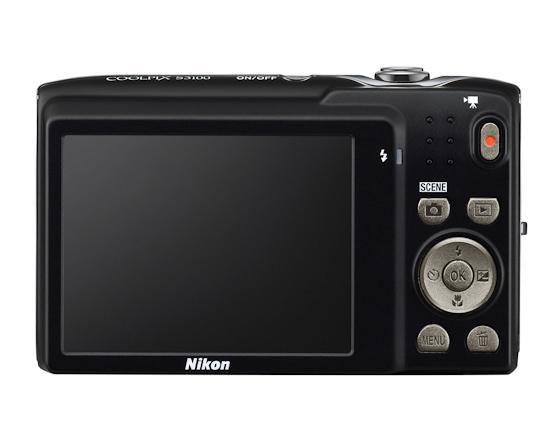 Nikon Coolpix S3100: вид сзади
