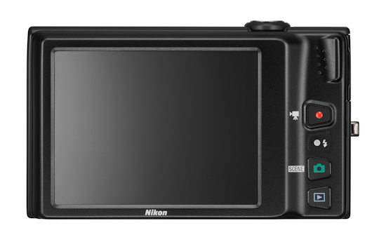 Nikon Coolpix S6100: вид сзади