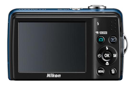 Nikon L23: вид сзади