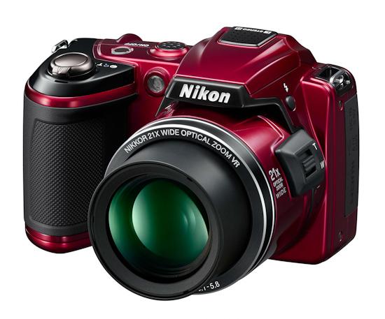 Nikon Coolpix L120: вид спереди