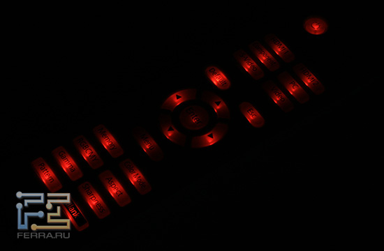 Пульт ДУ EPSON EH-TW3600 со включенной подсветкой