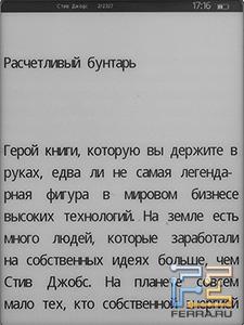 Wexler.Book E5001 в режиме чтения, немалый шрифт