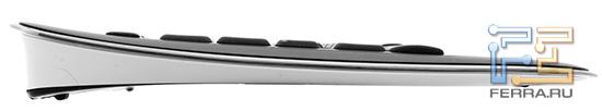 Еще один облик Logitech K800 в профиль