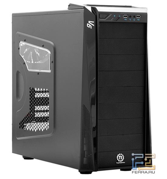 Дизайн Thermaltake V6 BlacX не блещет оригинальностью, зато его не зазорно припрятать под стол