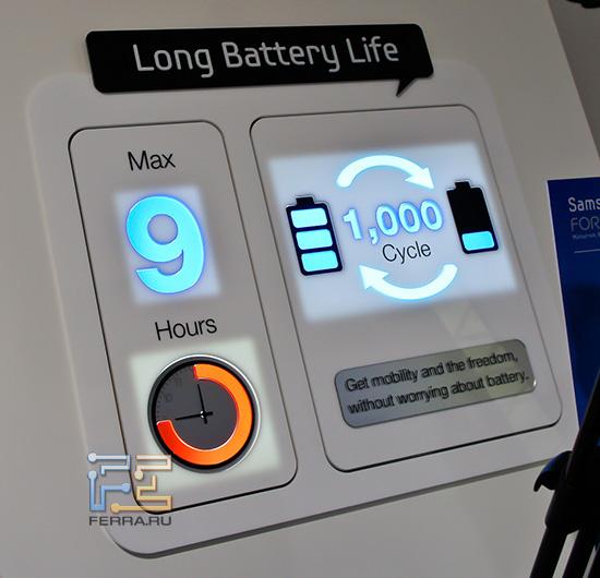 В Samsung 9 серии используются Li-Ion батареи