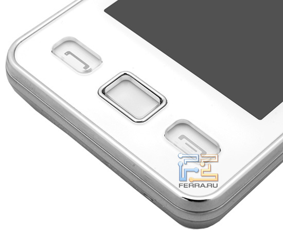 Основные органы управления Samsung S5260 Star II