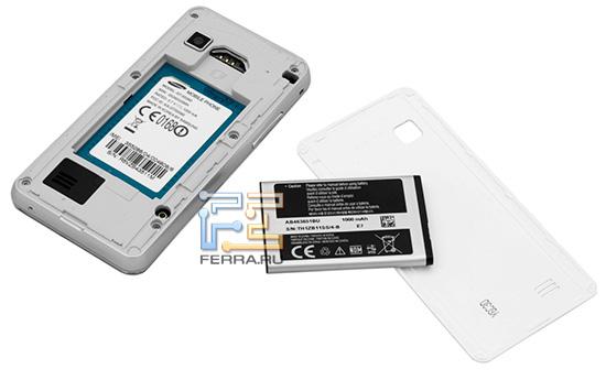 Samsung S5260 Star II без аккумуляторной крышки