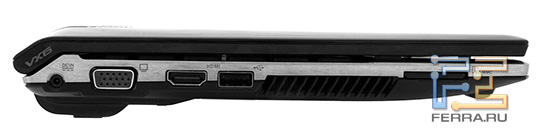 Левая грань ноутбука ASUS Lamborghini VX6
