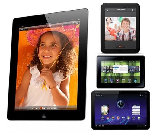 iPad 2 и Motorola Xoom, HP Touchpad, LG G-Slate, BlackBerry PlayBook