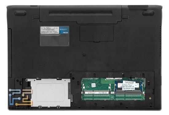 Модули памяти и жесткий диск ASUS N53Jf
