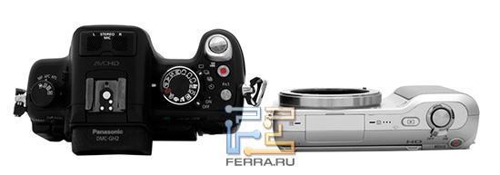 Lumix GH2 в сравнении с камерой Sony NEX 3
