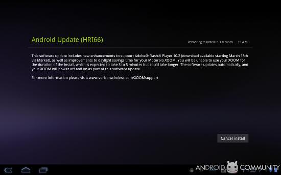 OTA обновление Motorola XOOM