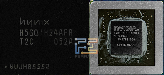 Визуально GF106 от GF116 ничем, кроме маркировки, не отличается