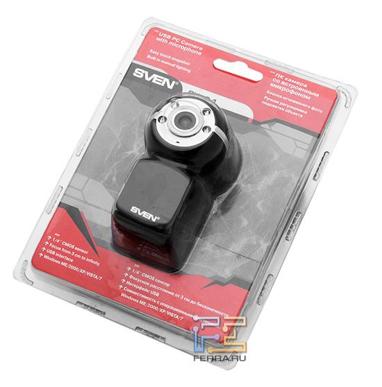 Упаковка с вебкамерой Sven CU-2.1
