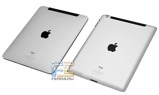 iPad и iPad 2, наружность сзади