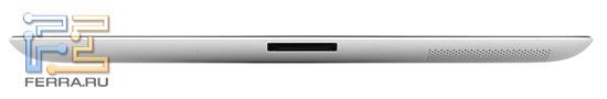 Нижний торец iPad 2