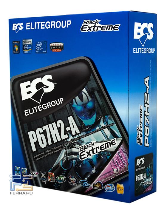 Лицевая край упаковки ECS Elitegroup P67H2-A