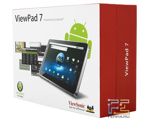Коробка с планшетом ViewSonic ViewPad 7
