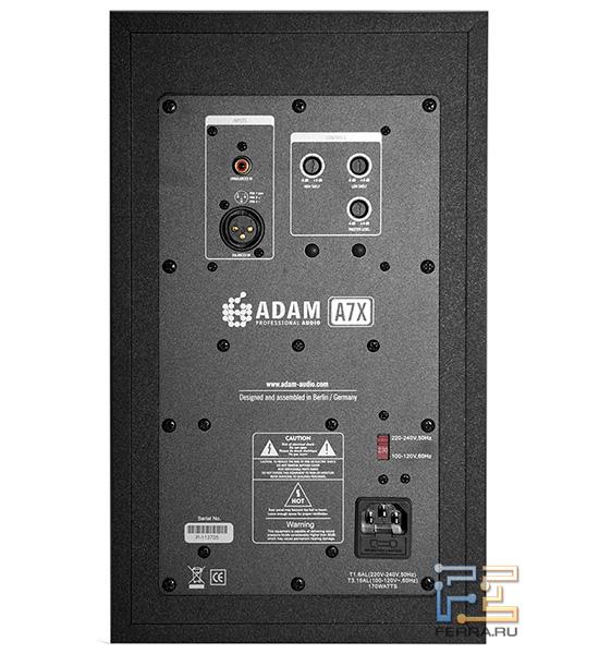 Задняя панель ADAM A7X