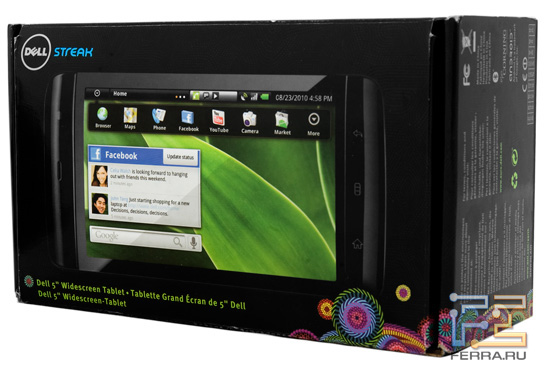 Коробка с планшетом Dell Streak