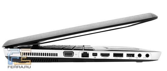 HP ENVY 17 3D, вид сбоку