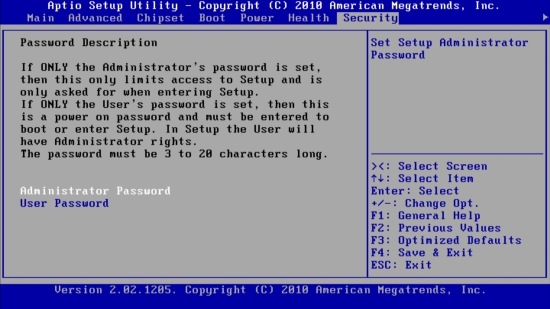 Инструкция по установке пароля будет понятна только тем, кто знает британский язык