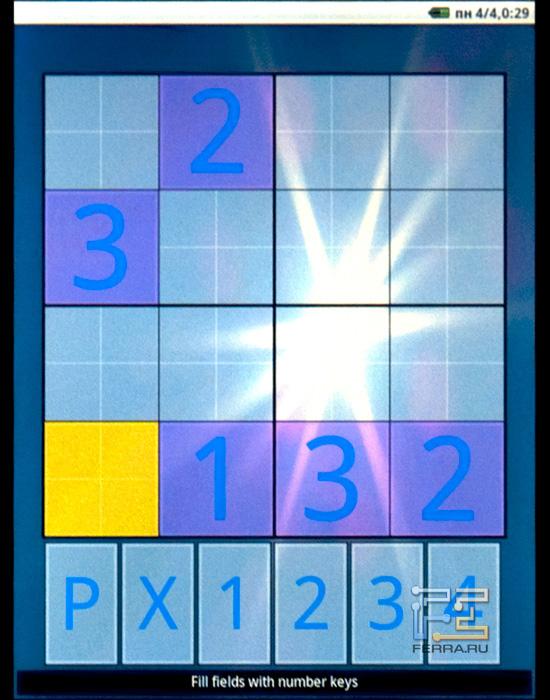 Игра Sudoku на PocketBook IQ 701