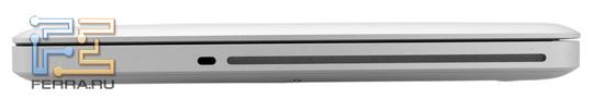 Правая боковина Apple MacBook Pro 13,3: Kensington Lock и оптический привод