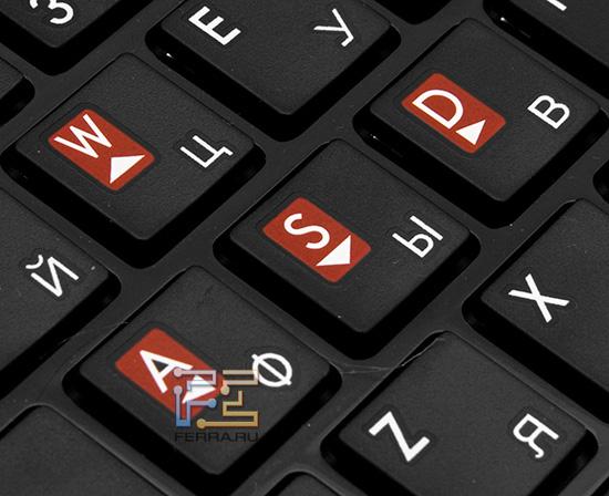 Клавиши WASD на ноутбуке MSI GT680