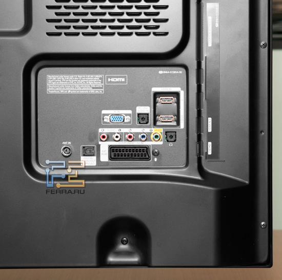 Разъёмы на задней панели Samsung PS51D490
