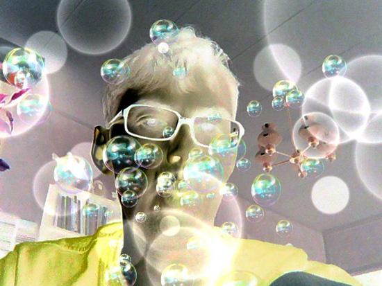 Пример фотографии, сделанной внутренней камерой и обработанной с помощью редактора фотографий Nintendo 3DS